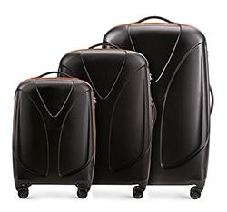 Комплект чемоданов Wittchen 56-3P-95S-10, черный 56-3P-95S-10