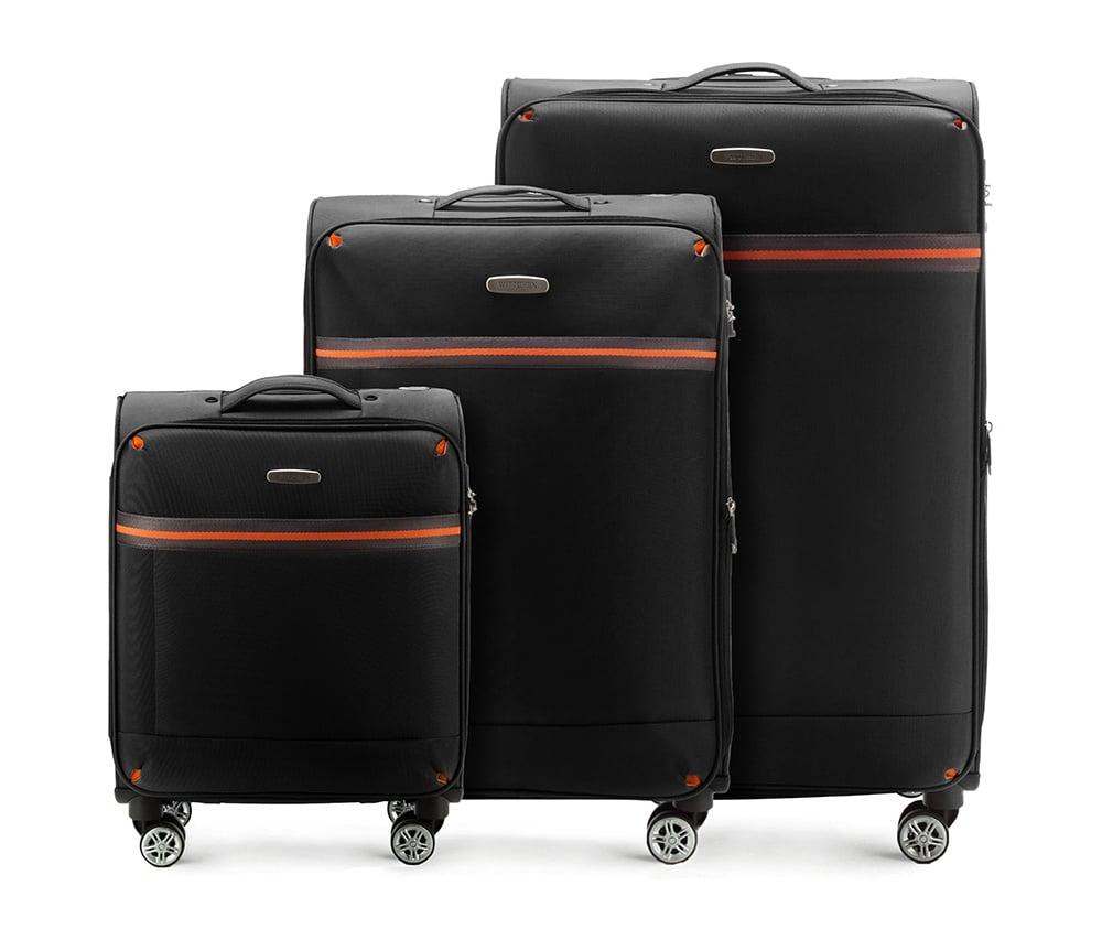 Комплект чемодановКомплект чемоданов из коллекции Comfort Line. Изготовлены из высокопрочного полиэстра. Четыре прочных колеса позволяют легко перемещать чемоданы. Имеют телескопическую ручку с фиксатором, эластичная прорезиненная ручка и кодовый замок. Особенности моделей: отделение с эластичными ремнями, предохраняющими одежду от перемещения;; отделение на молнии; карман на молнии. В состав комплекта входят: Маленький чемодан на колесах 56-3S-491; средний чемодан на колесах 56-3S-492; большой чемодан на колесиках 56-3S-493.<br><br>секс: унисекс<br>Цвет: черный<br>материал:: Полиэстер<br>подкладка:: полиэстр<br>высота (см):: 55 - 71 - 81<br>ширина (см):: 40 - 42 - 47<br>глубина (см):: 20 - 28 - 31<br>размер:: комплект<br>объем (л):: 35 - 67 - 96<br>вес (кг):: 2.4 - 3.2 - 3.9<br>Комплекты: так