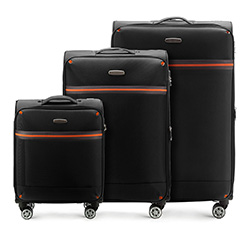 Комплект чемоданов Wittchen 56-3S-49S-10, черный 56-3S-49S-10