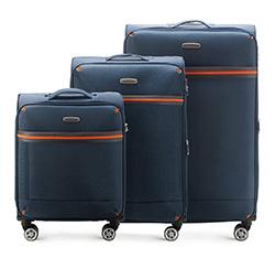 Zestaw walizek, granatowy, 56-3S-49S-90, Zdjęcie 1