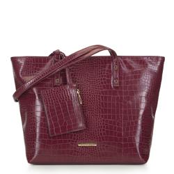 Shopper bag, burgundy, 93-4Y-219-2, Photo 1