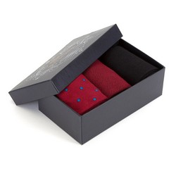 Men's socks gift set, red-black, 90-SK-003-X1-40/42, Photo 1