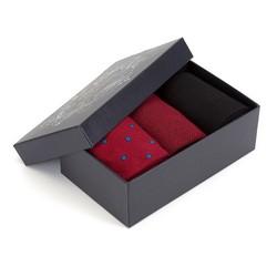 Zestaw skarpet męskich, czerwono - czarny, 90-SK-003-X2-43/45, Zdjęcie 1
