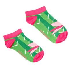 Damskie skarpetki w zabawny wzór, zielono - różowy, 92-SK-005-X1-35/37, Zdjęcie 1