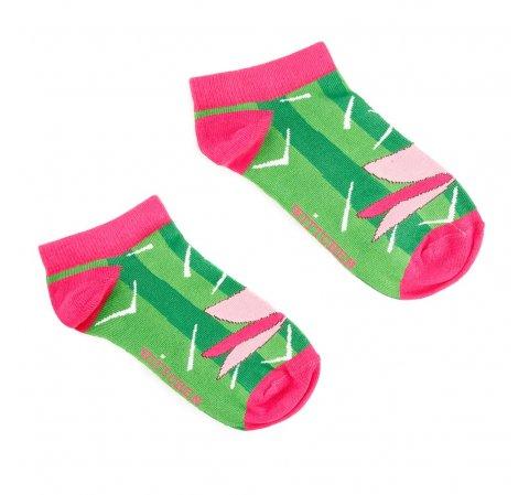 Damskie skarpetki w zabawny wzór, zielono - różowy, 92-SK-005-X2-35/37, Zdjęcie 1