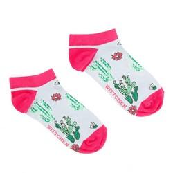 Damskie skarpetki w zabawny wzór, biało-różowy, 92-SK-005-X2-37/39, Zdjęcie 1