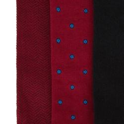 Zestaw męskich skarpetek długich, czerwono - czarny, 92-SK-013-X1-43/45, Zdjęcie 1