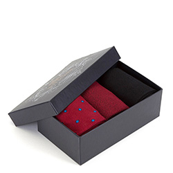 Zestaw skarpet męskich, czerwono - czarny, 89-SK-001-X1-43/45, Zdjęcie 1