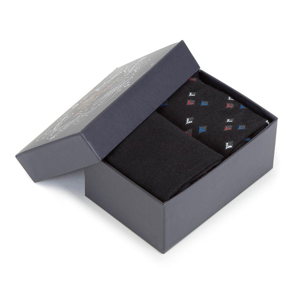 Pánske ponožky v darčekovej krabičke.