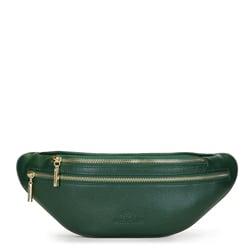 Damska torebka nerka skórzana z dwoma suwakami, zielony, 91-4E-618-Z, Zdjęcie 1