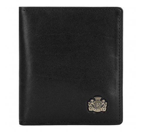 Etui na karty ze skóry z herbem  bez zapięcia, czarny, 10-2-291-3L, Zdjęcie 1