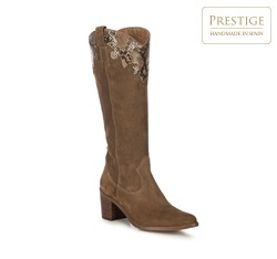 Women's cowboy knee high boots, camel, 91-D-050-4-37, Photo 1