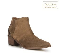 Women's cowboy ankle boots, brown, 91-D-051-4-41, Photo 1