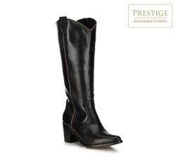 Leather cowboy boots, black, 91-D-053-1-40, Photo 1