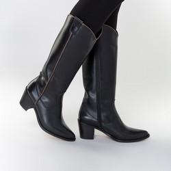 Leather cowboy boots, black, 91-D-053-1-35, Photo 1