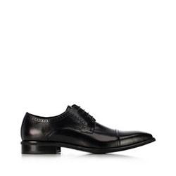 Męskie buty do garnituru skórzane, czarny, 91-M-901-1-45, Zdjęcie 1