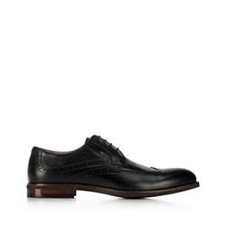 skórzane pantofle męskie, czarny, 91-M-905-1-44, Zdjęcie 1