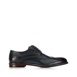 Men's lace up shoes, navy blue, 91-M-905-7-43, Photo 1