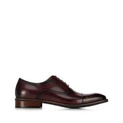 skórzane pantofle męskie, bordowy, 91-M-906-2-45, Zdjęcie 1