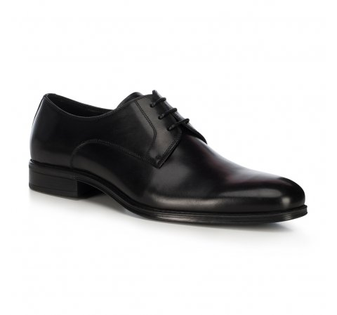 Buty do garnituru skórzane, czarny, 91-M-907-1-43, Zdjęcie 1