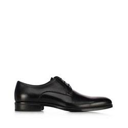 skórzane pantofle męskie, czarny, 91-M-907-1-41, Zdjęcie 1