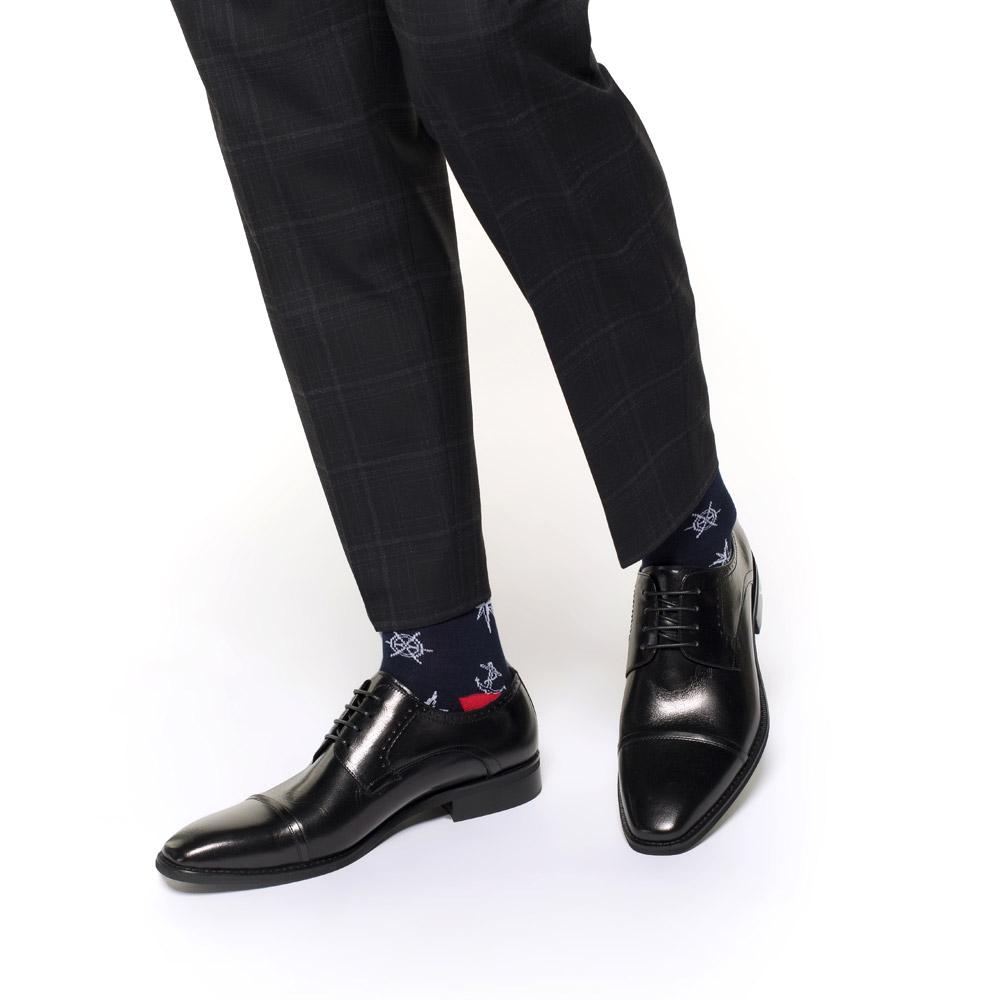 Męskie buty do garnituru skórzane, czarny, 91-M-901-1-40, Zdjęcie 1