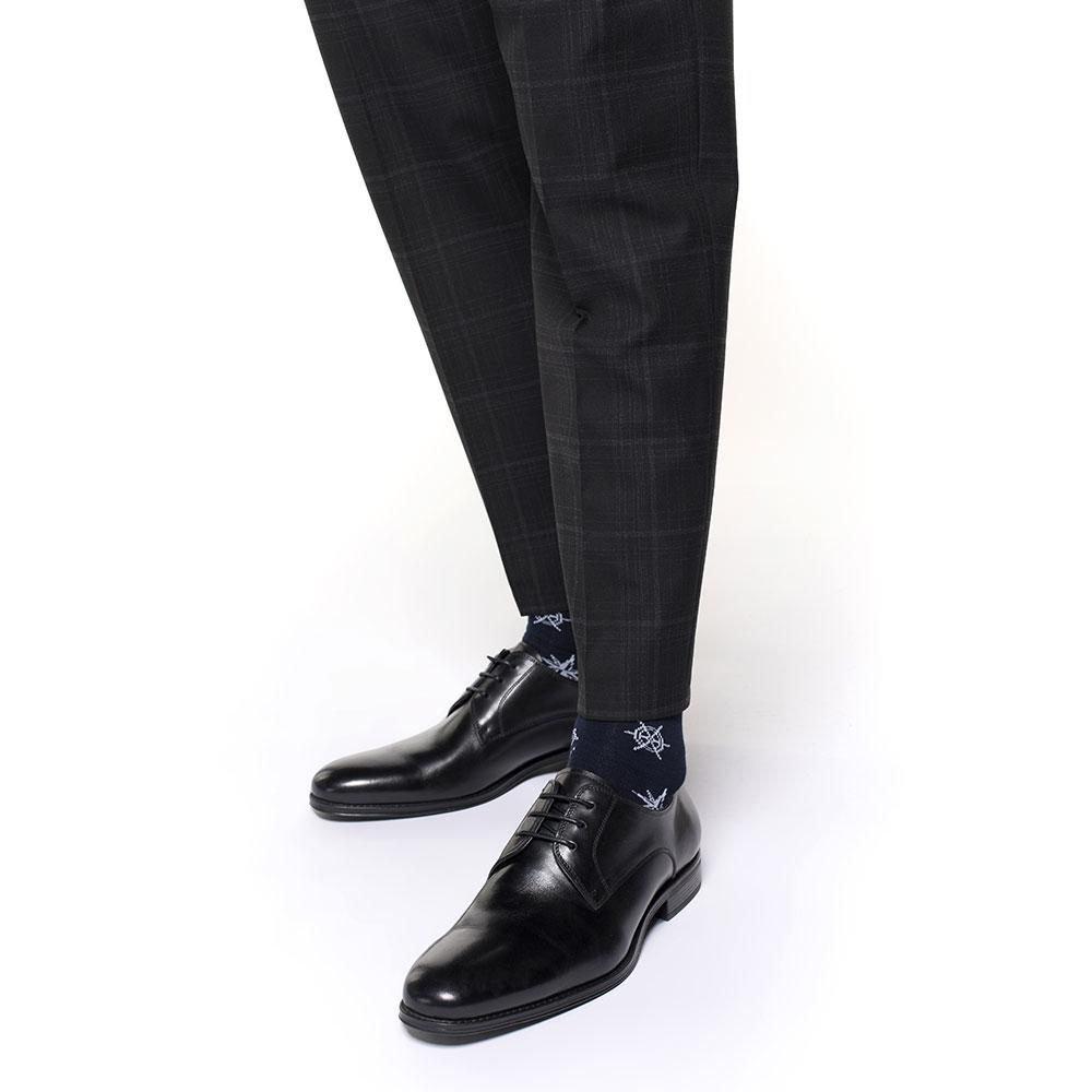 Buty do garnituru skórzane, czarny, 91-M-907-1-40, Zdjęcie 1