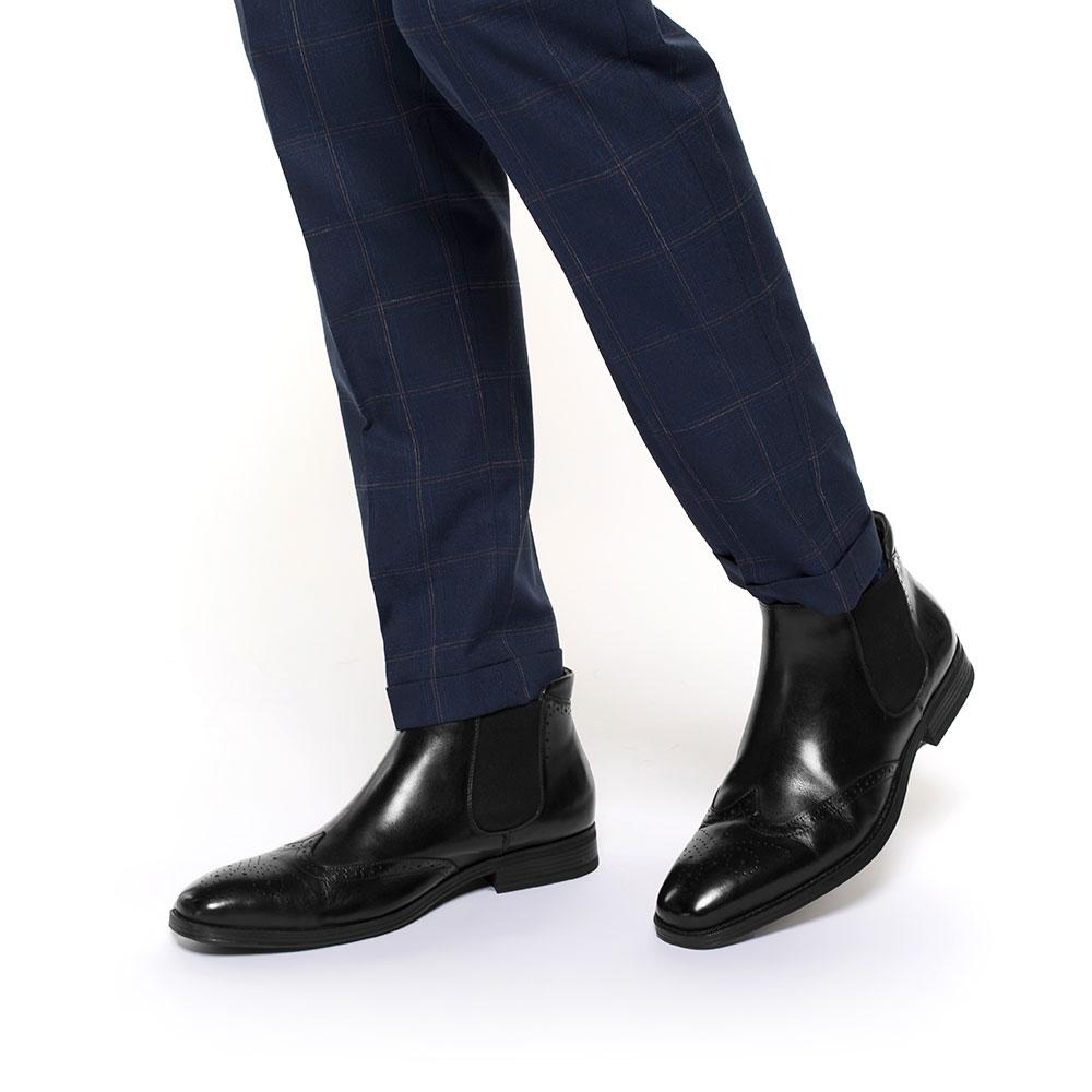 Men's ankle boots, black, 91-M-913-1-44, Photo 1
