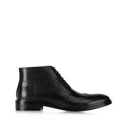 Men's leather lace up boots, black, 91-M-903-1-40, Photo 1