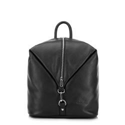 skórzany plecak damski, czarny, 91-4E-303-1, Zdjęcie 1