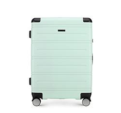 Średnia walizka, miętowy, 56-3A-442-95, Zdjęcie 1