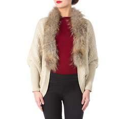Sweter damski, beżowy, 81-9F-008-9, Zdjęcie 1