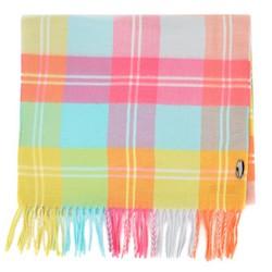 Damski szalik w kolorową kratę z frędzlami, multikolor, 91-7D-X24-X1, Zdjęcie 1