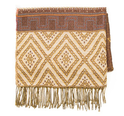 Women's scarf, brown, 85-7D-X97-4, Photo 1