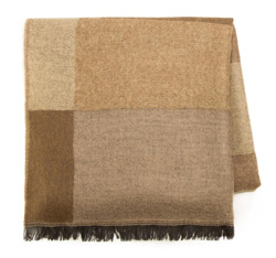 Women's scarf, beige-brown, 85-7D-X98-X1, Photo 1
