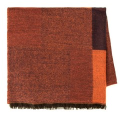 Women's scarf, orange-brown, 85-7D-X98-X3, Photo 1