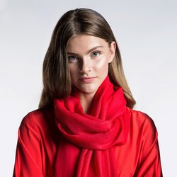 Women's scarf, red, 87-7D-W01-3, Photo 1