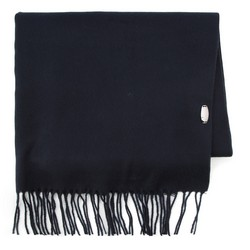 Women's scarf, navy blue, 87-7D-X01-7, Photo 1