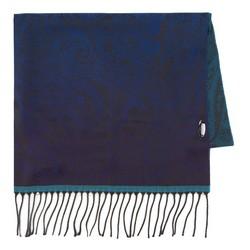 Women's scarf, navy blue-blue, 87-7D-X03-X1, Photo 1