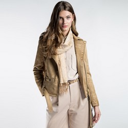 Women's scarf, light beige, 87-7D-X04-X1, Photo 1