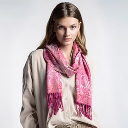 Women's scarf, pink, 87-7D-X04-X7, Photo 1