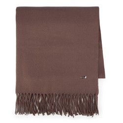 Women's scarf, dark brown, 87-7D-X99-9, Photo 1