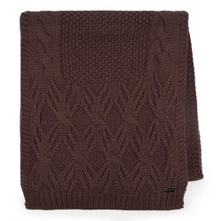 Women's scarf, dark brown, 87-7F-027-4, Photo 1
