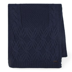 Women's scarf, navy blue, 87-7F-027-7, Photo 1