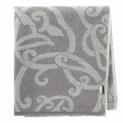 Damski szal wełniany z ornamentem, szaro - beżowy, 91-7D-W02-8, Zdjęcie 1