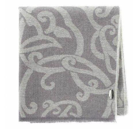 Damski szal wełniany z ornamentem, szaro - beżowy, 91-7D-W02-1, Zdjęcie 1