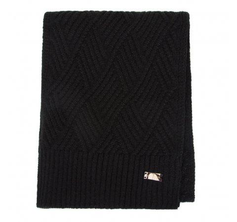 Women's winter scarf, black, 91-7F-003-7, Photo 1