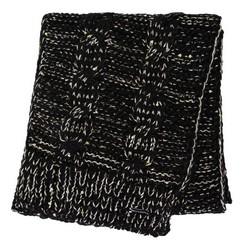 Damski szalik z metaliczną nicią, czarno - złoty, 91-7F-200-1X, Zdjęcie 1