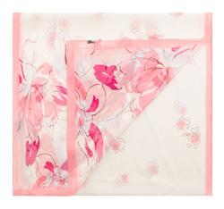 Szal damski, różowo - biały, 85-7D-S40-X2, Zdjęcie 1