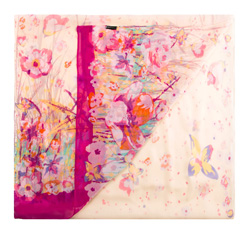Women's scarf, pink, 85-7D-S40-X5, Photo 1